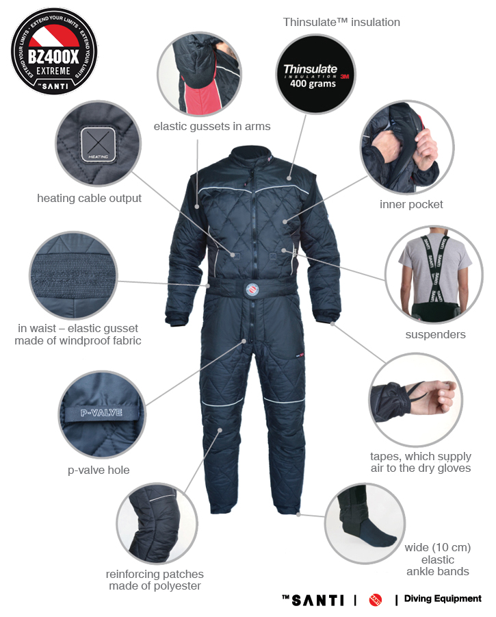 Santi Extreme BZ400 X Mens Undersuit